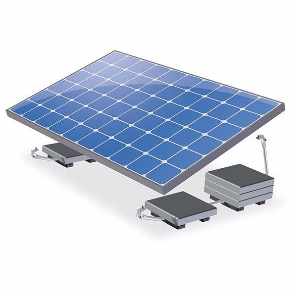 Afbeeldingen van ValkBox 3 - platte daken - kit voor 1 paneel -  20° tilt