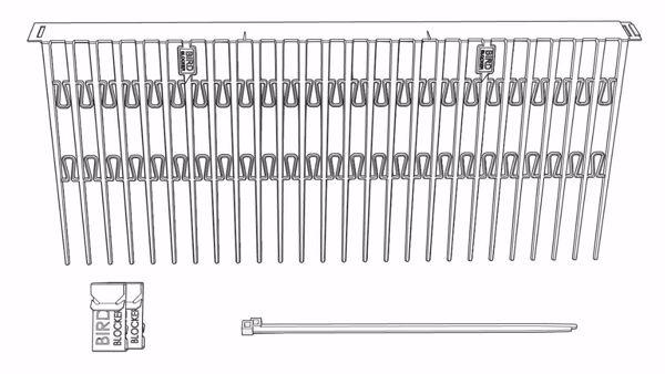 Afbeeldingen van Birdblocker H=200mm (60 x 0.5mtr + 250 clips)