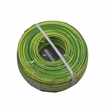 Afbeeldingen van 4mm² Aardedraad B2CA H07Z1-K groen/geel vertind 100m